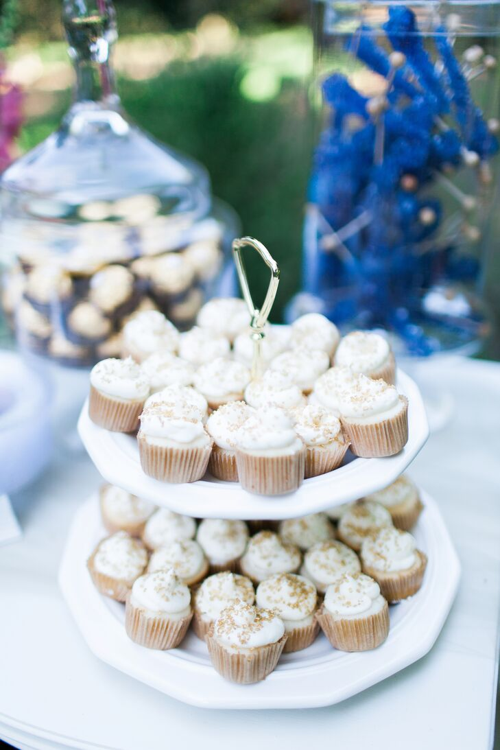 White-Frosted Cupcake Tier