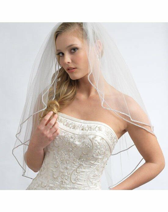 USABride 2 Layer, Swarovski Rhinestone Edge Veil VB-409 Wedding Veils photo