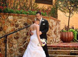 Although the nuptials of Brett and Staci Miller took place in Central Florida, it looked more like a wedding in the Italian countryside. Brett, 32, wh
