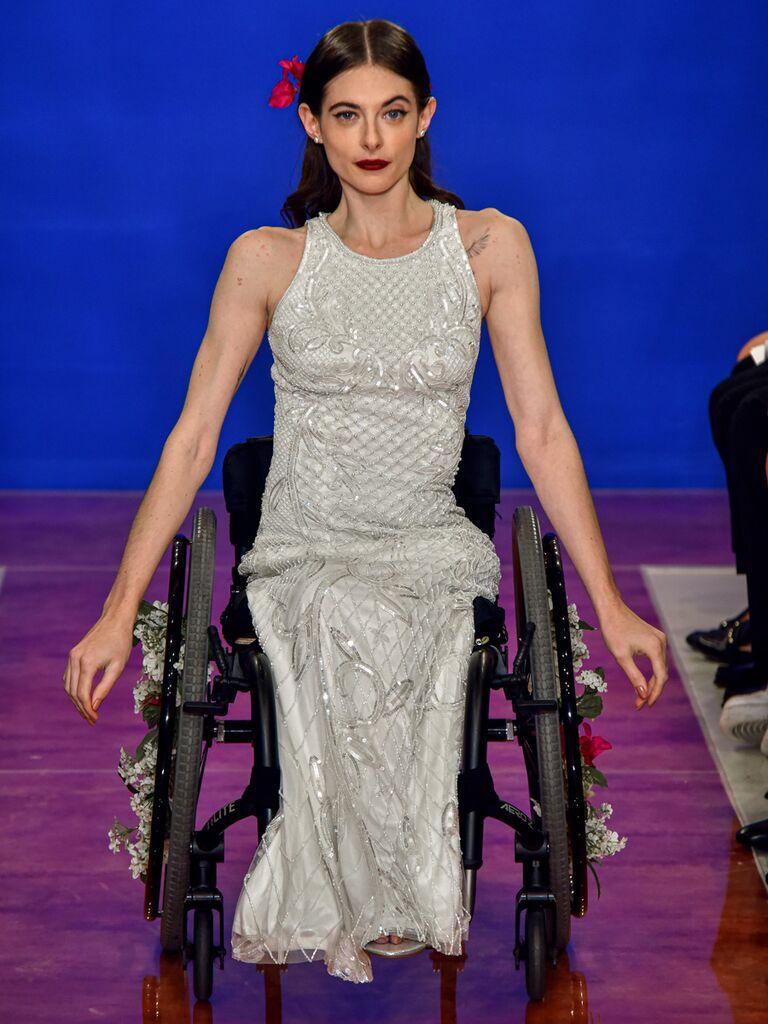 theia wedding dress beaded slim gown