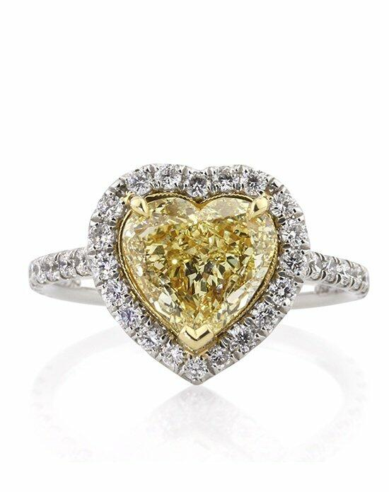 Mark Broumand 2.75ct Fancy Yellow Heart Shaped Diamond Engagement Ring Engagement Ring photo