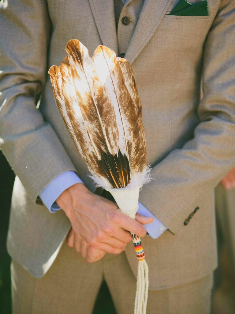 feather for Native American wedding ceremony