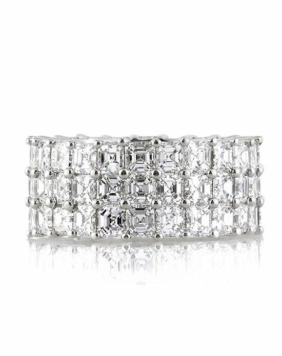 Mark Broumand 8.12ct Three-Row Asscher Cut Diamond Eternity Band Engagement Ring photo