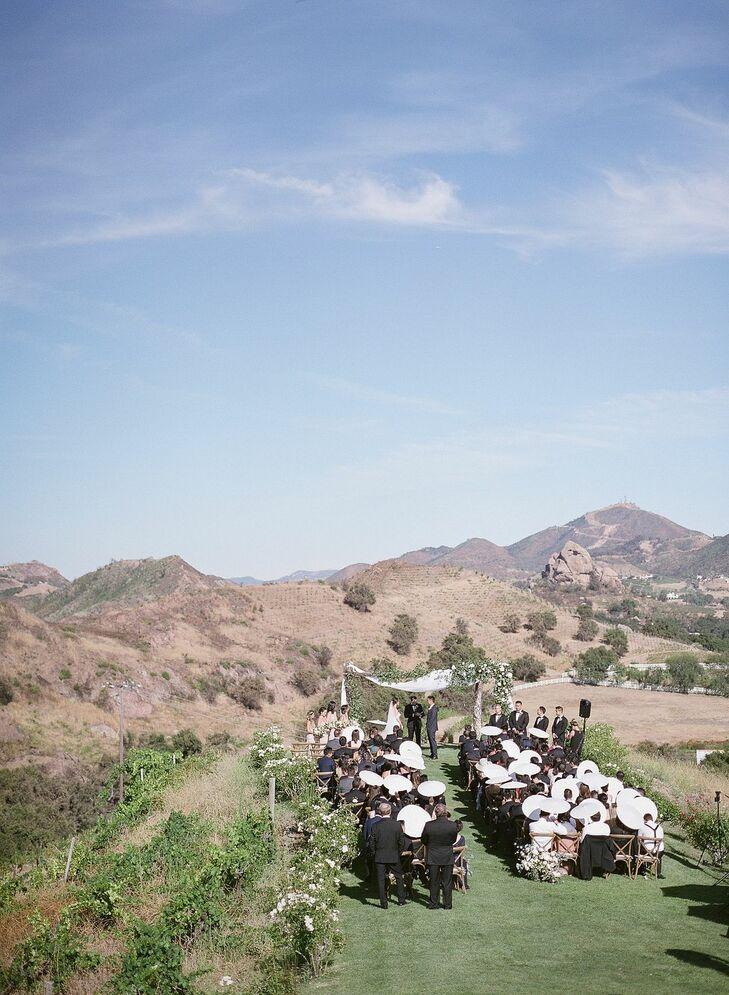 Wedding Ceremony at Saddlerock Ranch in Malibu, California