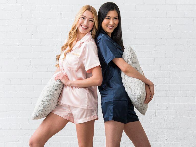 Cute bridesmaid sleepwear gift