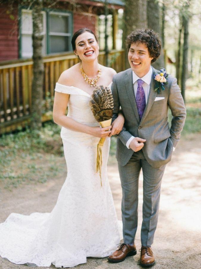Bride and groom at Native American wedding