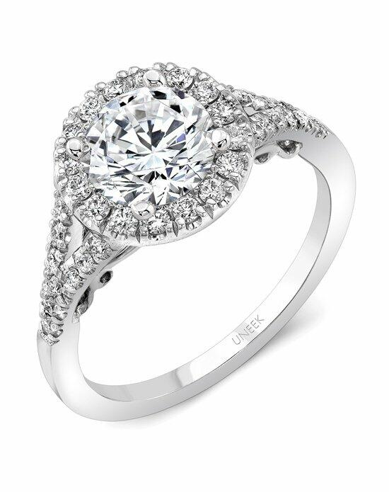 Uneek Fine Jewelry A104RDW-6.5RD Engagement Ring photo