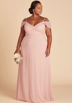 Birdy Grey Spence Convertible Dress Curve in Rose Quartz V-Neck Bridesmaid Dress