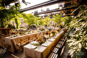 Rooftop Reception with Greenery at Gallow Green at The McKittrick Hotel, New  York