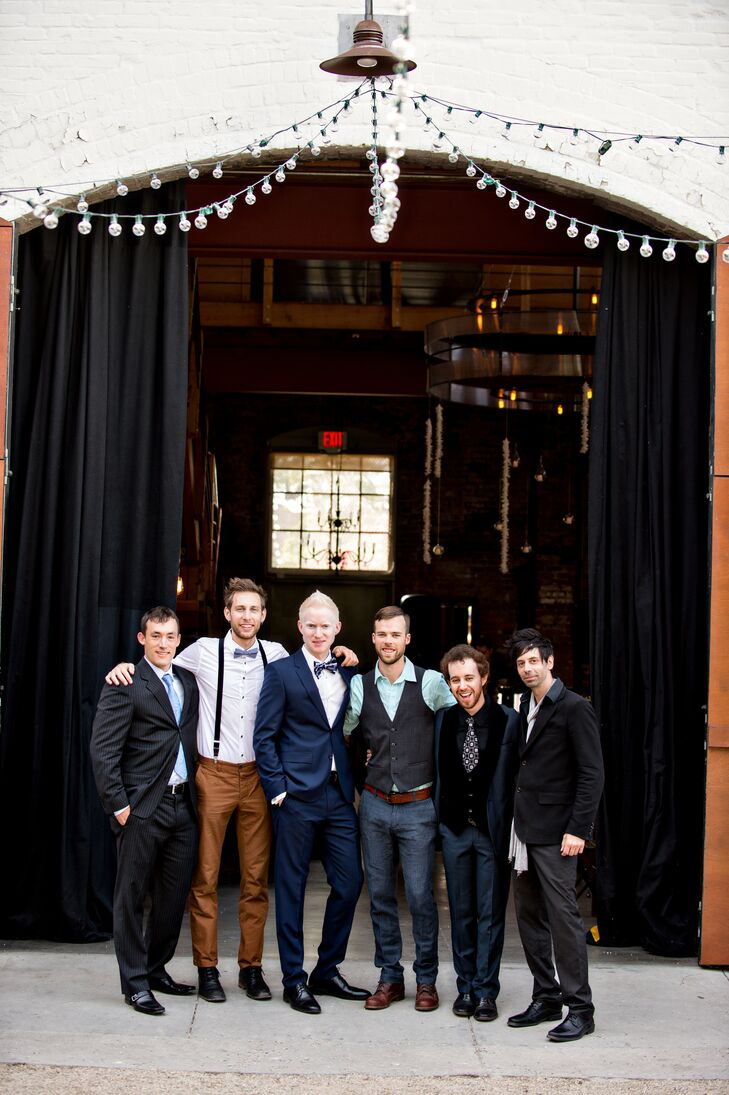 Groom and Groomsmen in Different Attire
