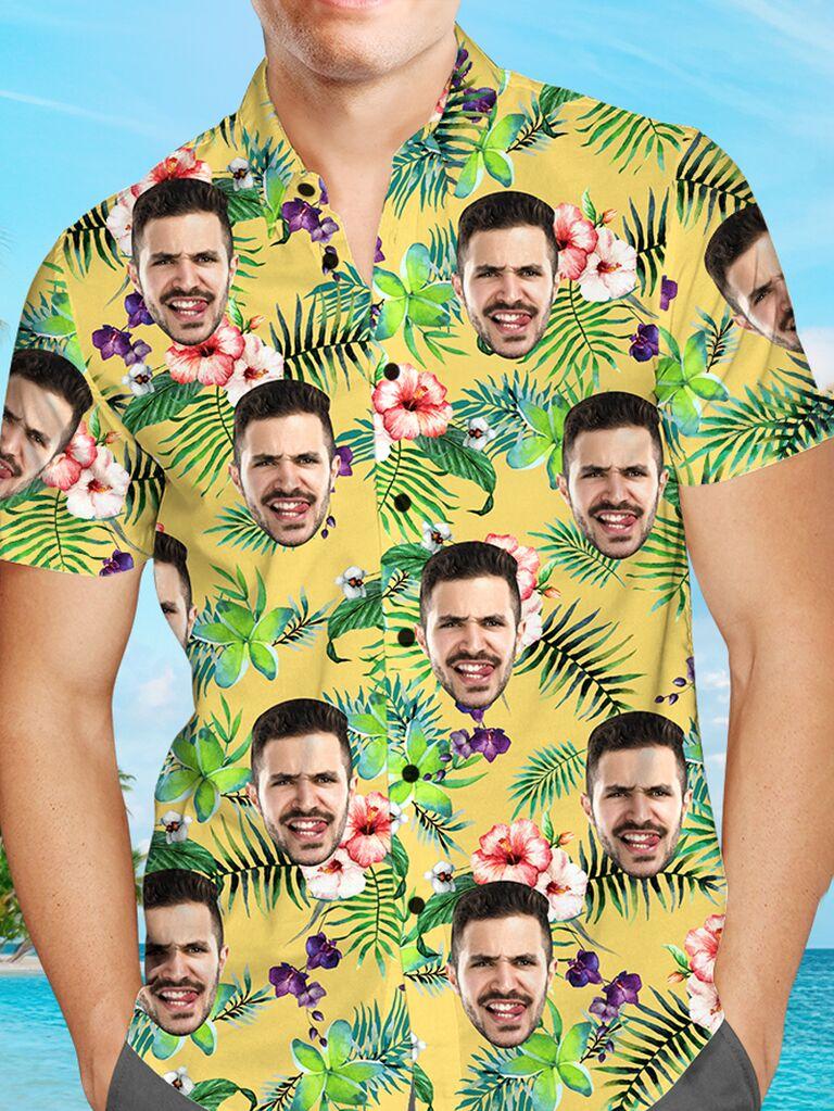 santasocks custom face hawaiian shirt for bachelor party favors
