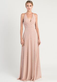 Jenny Yoo Collection (Maids) Bryce Ditsy Floral V-Neck Bridesmaid Dress
