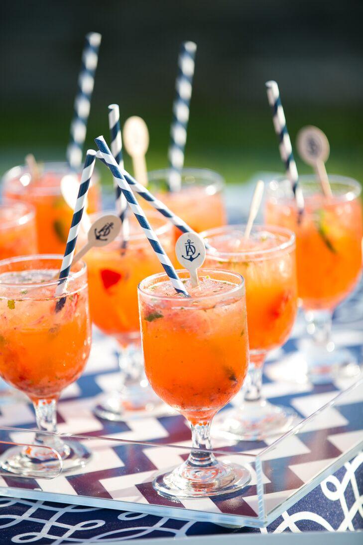 Strawberry, Cilantro and Jalapeño Margaritas