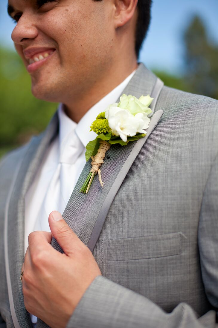White Lily Boutonniere