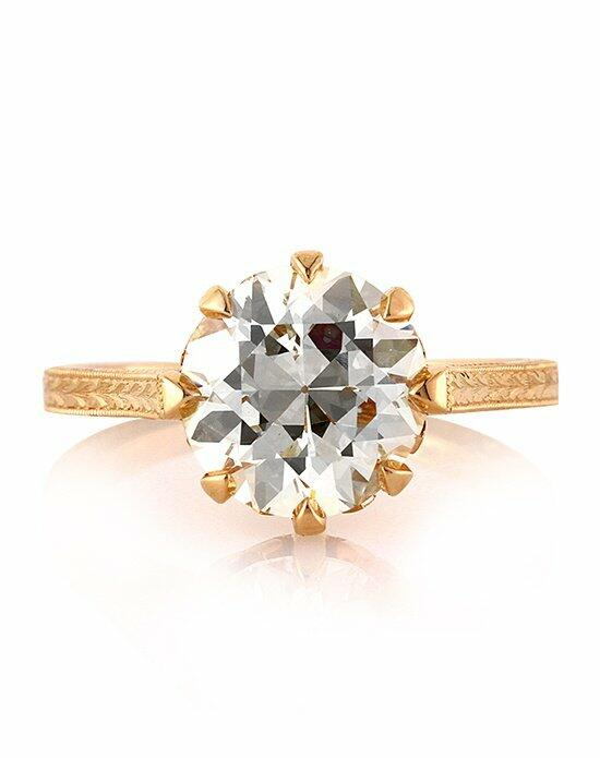 Mark Broumand 3.40ct Antique European Round Cut Diamond Engagement Anniversary Ring Engagement Ring photo