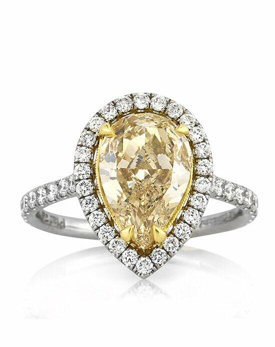 Mark Broumand 3.28ct Fancy Yellow Pear Shaped Diamond Engagement Ring Engagement Ring photo