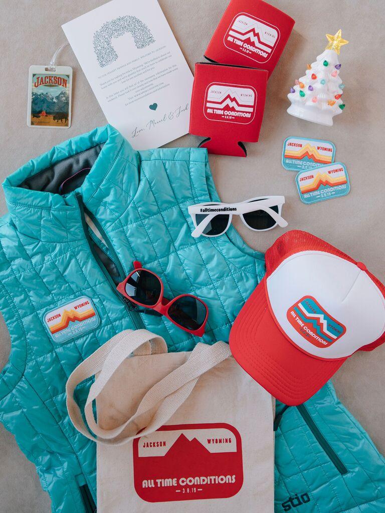winter wedding ideas welcome bag