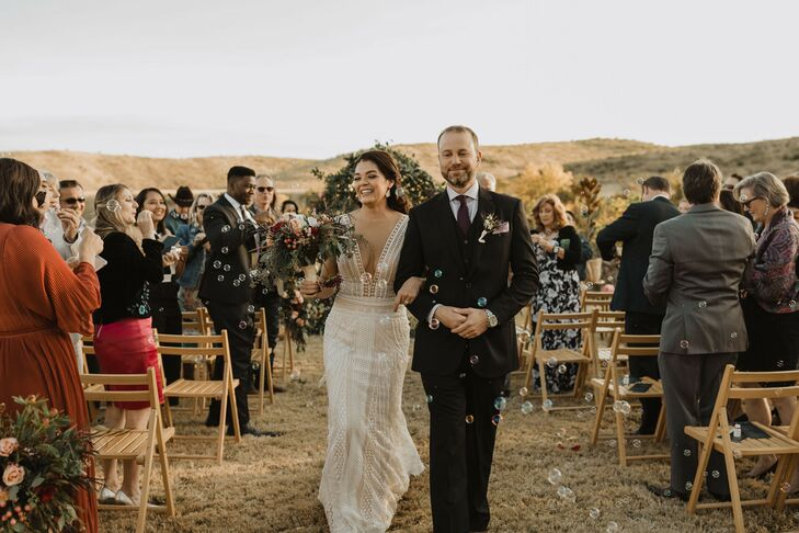 """Christina and Jason escaped to the West Texas desert for an intimate wedding with loved ones. """"I love the desert feel that West Texas has to offer. I"""