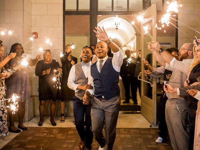 Arkansas wedding sparkler sendoff in Little Rock, AR