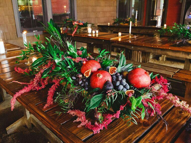 Wedding Centerpieces Seasonal Fruit