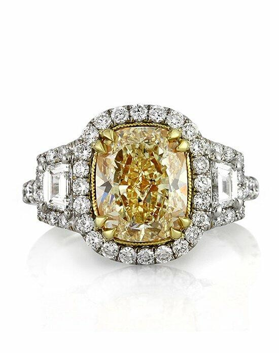 Mark Broumand 4.93ct Fancy Light Yellow Cushion Cut Diamond Engagement Ring Engagement Ring photo