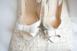 Peep-Toe Ivory Bridal Heels