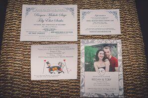 Art Noveau-Inspired Custom-Made Wedding Invitations