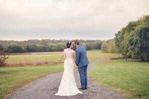 Romantic Ivory Lace Mermaid Wedding Dress
