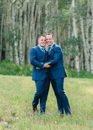 Couple at Wedding at Beaver Creek Resort in Avon, Colorado