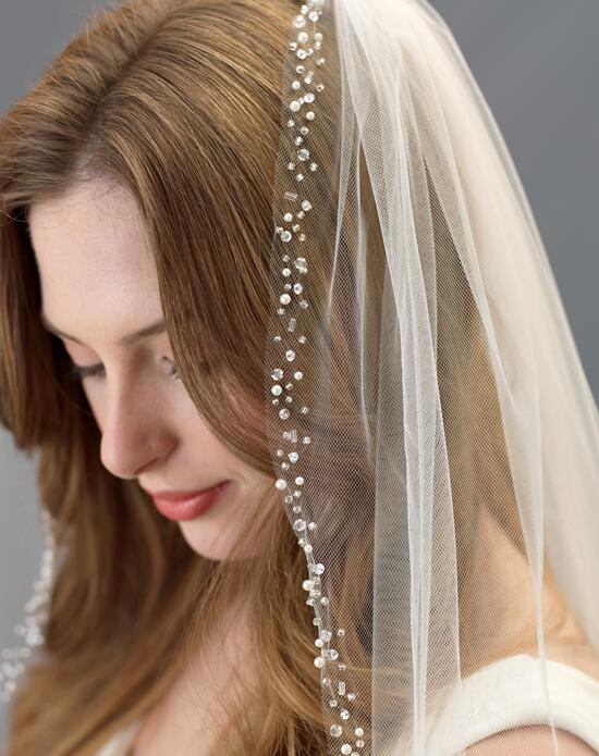 USABride Ella Scattered Pearl & Crystal Wedding Veil (1 Layer) VB-5064 Wedding Veils photo