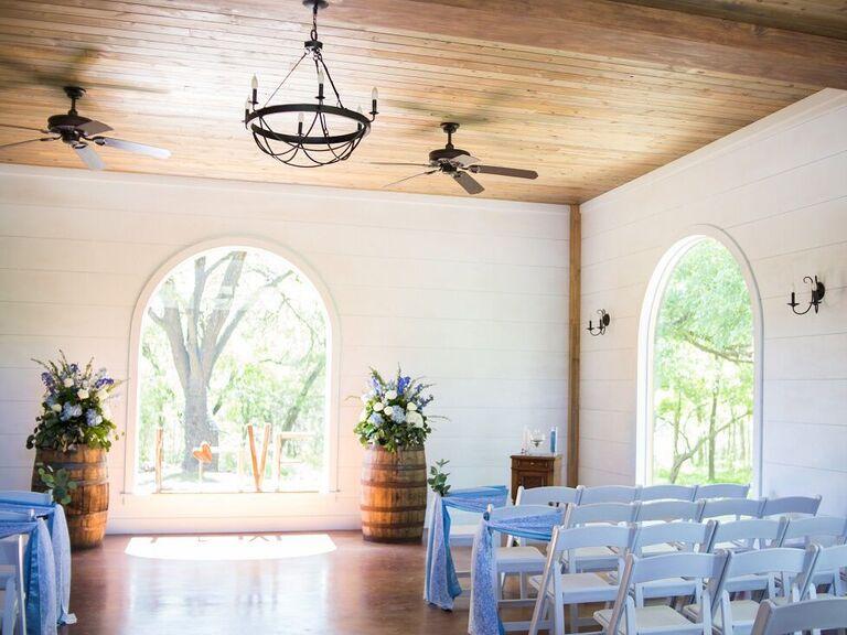 Wedding venue in Temple, Texas.