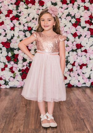 Kid's Dream 410 Pink,Ivory Flower Girl Dress