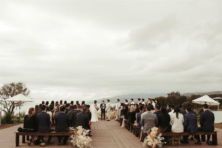Wedding Ceremony at Dos Pueblos Orchid Farm in Goleta, California