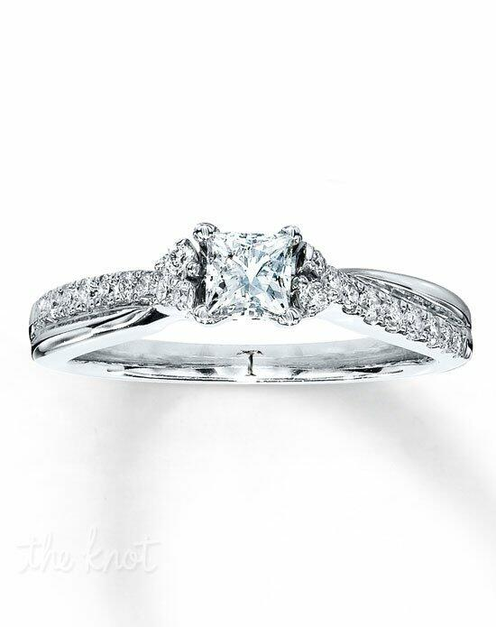 Tolkowsky Diamond Engagement Ring 5/8 ct tw Princess-cut 14K White Gold-990819409 Engagement Ring photo