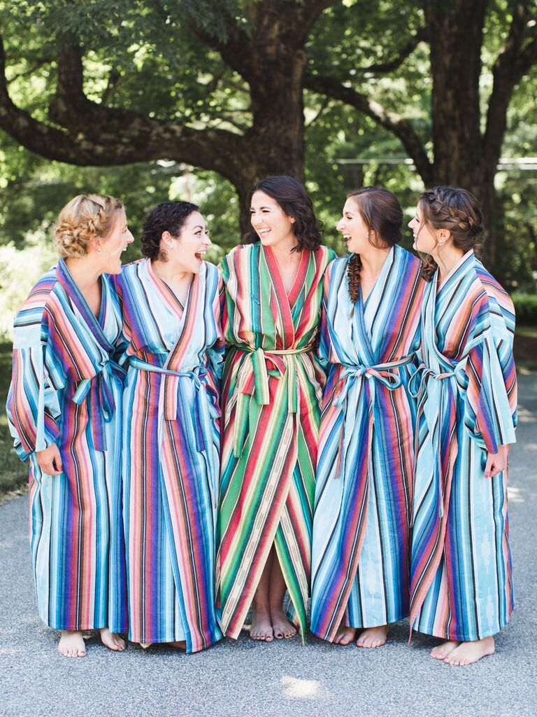 Long Printed Robes getting-ready outfits