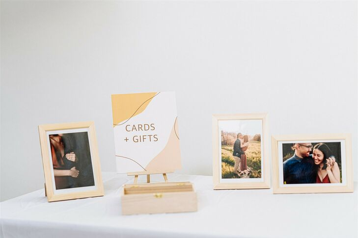 Card and Gift Table at Modern and Minimal Wedding in San Diego, California