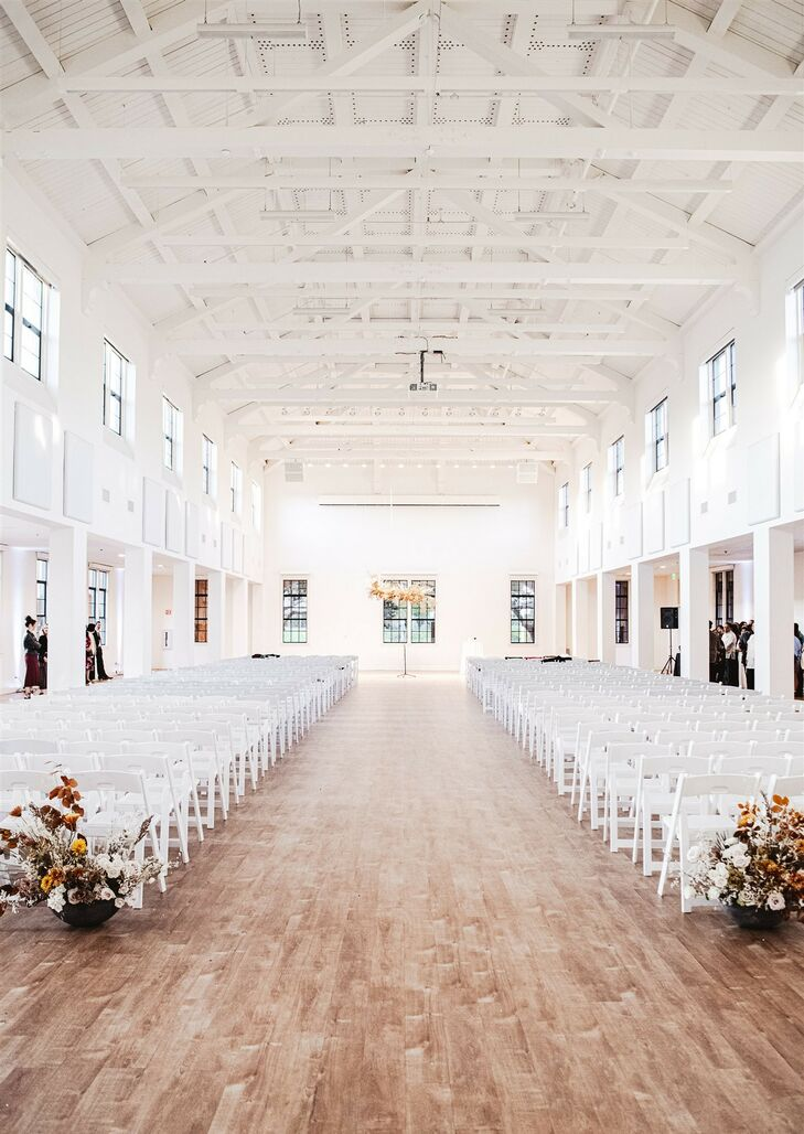 Ceremony Setup at Modern and Minimal Wedding in San Diego, California