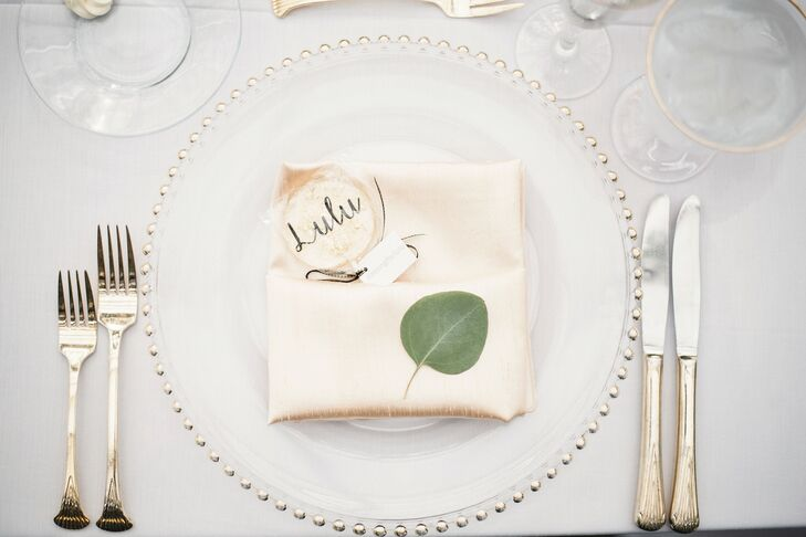 Classic Reception Place Setting at Planterra Conservatory in Detroit, Michigan