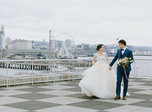 With future plans to host an over-the-top wedding in China, Hairong Cao and Yutian Zhu planned an intimate destination celebration for close friends i