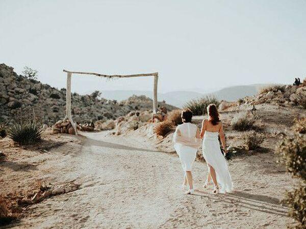 Wedding venue in Pioneertown, California.