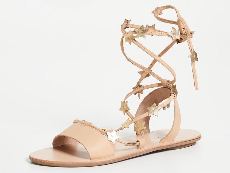 Wrap star beach wedding sandals