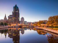 Milwaukee, Wisconsin at dusk