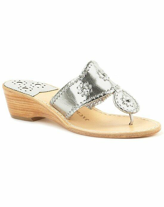 Jack Rogers Hamptons Mid Wedge-silver Wedding Shoes photo