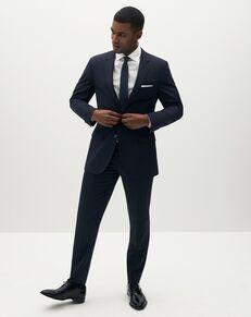 Suit Shop Men's Navy Blue Suit Blue Tuxedo