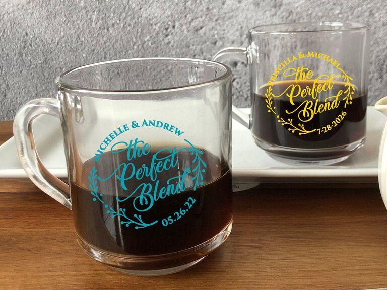 The Perfect Blend coffee mug rainy wedding supplies