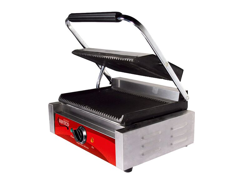 Avantco P78 grooved commercial panini press