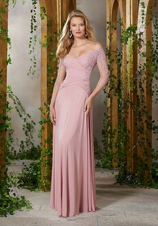 MGNY 71921 Blue,Pink Mother Of The Bride Dress