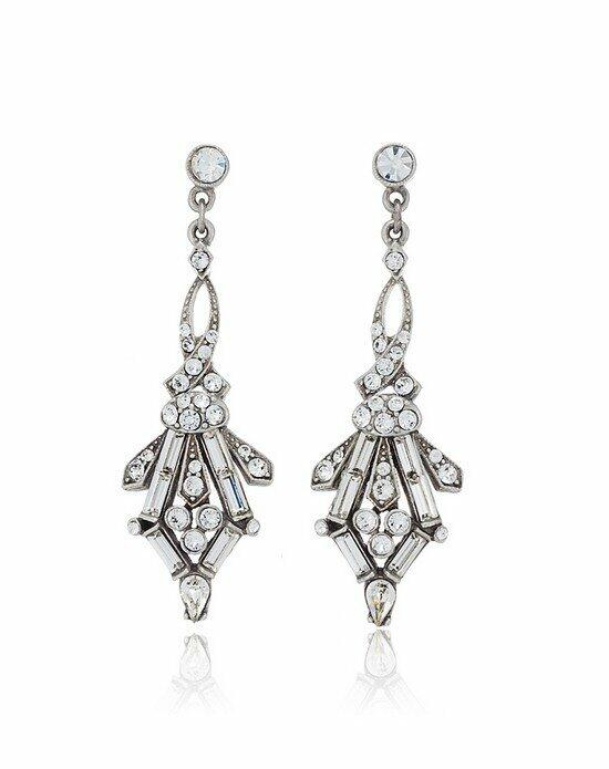 Thomas Laine Ben-Amun 1920s Style Juliet Crystal Earrings Wedding Earrings photo