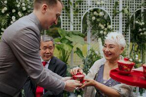 Traditional Chinese Tea Ceremony During Wedding in Zhangjiajie, China