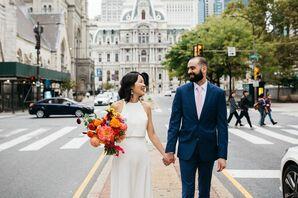 Bride and Groom in Philadelphia, Pennsylvania
